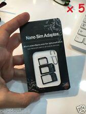 5 lots de 3 adaptateurs carte mini micro nano sim + patrons de découpe