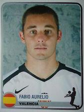 Panini 355 Fabio Aurelio FC Valencia Champions Europe 1955-2005