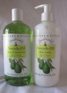 Crabtree & Evelyn 16.9 fl oz Body/Shower Gel & Body Lotion AVOCADO OIL 1 EACH