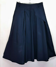 BOHEMIA OF SWEDEN LONG A LINE NAVY SKIRT PLEATED LINED ZIP FASTENING BELT LOOPS