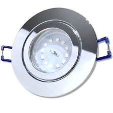 Chrom / Warmweiss / Feuchtraum / Bad / Decken / Einbaustrahler / SMD / LED / 5W