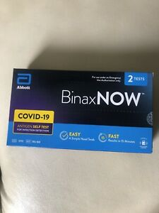 Abbott BinaxNOW Home Self Test 2 Per BoxNo RX required.