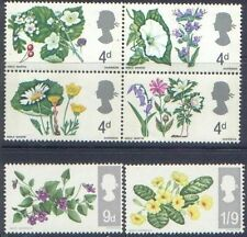 Great Britain 1967 FLOWERS (6) SG 717-722 Unhinged Mint