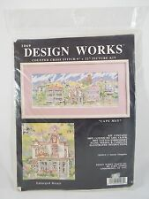 """Vintage Design Works Counted Cross Stitch Picture Kit """"Cape May"""" 9""""x22"""" 1069"""
