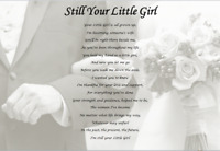 DAD ON MY WEDDING DAY -  Still Your Little Girl (FATHER F THE BRIDE GIFT)
