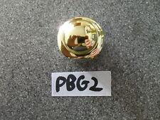 Small gold push button and rosette for caravan motorhome cabinet door lock PBG2