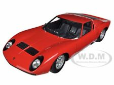 LAMBORGHINI MIURA SV RED 1/18 DIECAST CAR MODEL BY AUTOART 74543