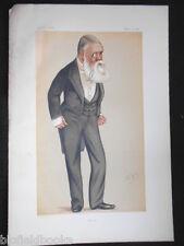 Tom Taylor, Dramatist/Punch Magazine: Original 1876 Victorian Vanity Fair Print
