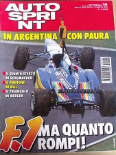 Autosprint 14 1995 gerard Berger - Michel Schumacher - Damon Hill [SC.50]