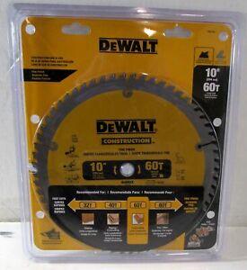 """NEW Dewalt DW3106 10"""" 60T ATB Fine Finish Crosscutting Saw Blade $50"""
