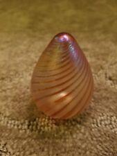 Iridescent murano glass egg paperweight