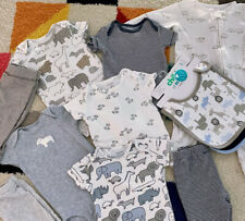 Carter's Baby Boys Clothes Lot Zoo Animals Blue Size 3 Months New & Preowned