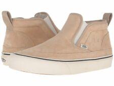 Vans Mid Slip Mens Size 7.5 Suede Incense Brown Faux Fur
