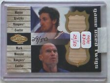 "2000/01 Gretzky/Messier UD Heroes ""Game Used Twigs"" #'d 29/50 Stick Card"