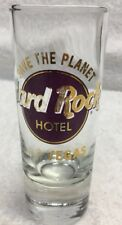 Hard Rock Cafe Shot Glasses Glass Logo Las Vegas Nevada Usa