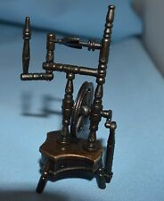 Old Fashioned Metal  Miniature Pencil Sharpener Spinning Wheel 4