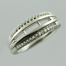 Round Shape 2.20 MM Ring In Semi Mount Genuine 925 Silver Wedding Gift Jewelry