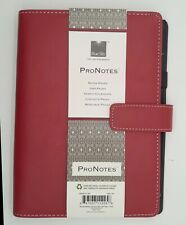 Blue Sky Pro Notes Red Notebook Planner Faux Leather 11225 8 12 X 5