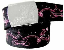 DISNEY PRINCESS DREAMS CANVAS BELT WITH METAL EMBOSSED BUCKLE NEW WITH TAGS
