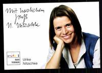Ulrike Nitzschke MDR Autogrammkarte Original Signiert ## BC 27352
