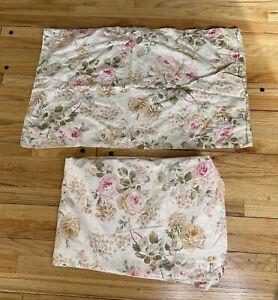 RARE Ralph Lauren Woodstock Garden Floral Queen Flat Sheet + pillowcase cottage