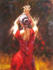 ZOPT114 100% hand painted ART GYPSY FLAMENCO DANCER OIL PAINTING ON CANVAS