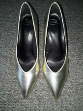 Marks & Spencer oro Zapatos Tacón Stiletto Talla 6 Totalmente Nuevo