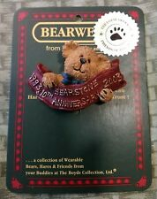 Boyds Bears And Friends Bearwear Pin, Bearstone 10th Anniversary. 2000.