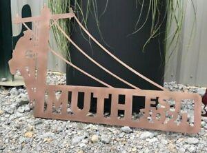 "Metal Lineman 18"" Wide Last Name Sign Plasma Cut Sign Art Power Line Worker"