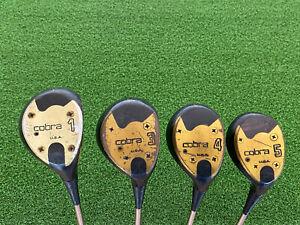 Cobra Golf Classic 1 3 4 5 WOOD SET Persimmon Right Handed Steel Dynamic Regular
