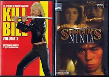 Kill Bill Vol. 2 (DVD, 2004, Anamorphic Widescreen) & Shogun Ninjas (DVD)