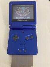Nintendo Gameboy Advance SP Handheld Spielkonsole - Blau mit Super Mario Land 2