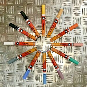 Molotow One4All 227 HS Acrylic Marker - Pastel Set - 12 Markers with User Guide