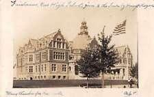 Fairhaven Massachusetts High School Real Photo Antique Postcard J72676