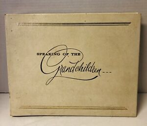 Grandma's Family Photo Album Book by C.R. Gibson 1964 Unused Blank Paper Pages