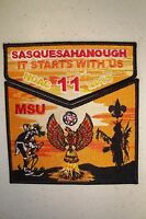 OA SUSQUESAHAHOUGH 11 NEW BIRTH FREEDOM 2-PATCH PHOENIX 100TH ANN 2015 NOAC FLAP