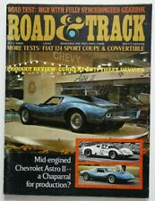 ROAD and TRACK July 1968 Chevrolet Astro II MGB Fiat 124 Sport Coupe Jaguar 420