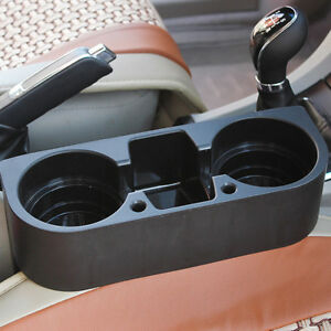 Universal-Black Drink Cup Bottle Holder Beverage Seat Seam Wedge Car Truck Mount