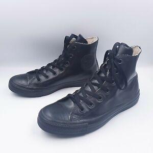 Converse Mens 6 Womens 8 Chuck Taylor High Top Black Rubber Waterproof Sneakers