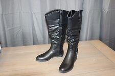 Easy Street Women's Vim Plus Wide Calf Tall Boot - Womens Size 6.5 M, Black
