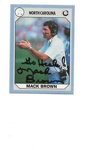 MACK   BROWN   NC    AUTOGRAPHED   CARD