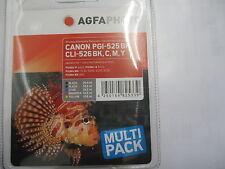 AGFA PHOTO CANON 5-SET PGI-525 bk + CLI-526 C Y M Bk  Pixma MG-5250 -6150 8150