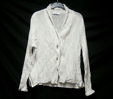 SULU KERSTIN BERNECKER LAGENLOOK ARTY CRINKLE BOHO BLOUSE QUIRKY BUTTONS UK M