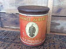 Vintage Prince Albert  Crimp Cut   , Advertising Tobacco Barrel Style Tin