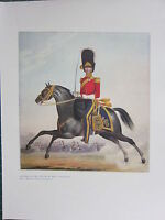 1909 MILITARY PRINT ~ OFFICER OF THE 2nd (R. N. BRIT) DRAGOONS