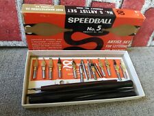 Speedball No 5 Artist Pen Set # 3065 for Lettering and Drawing used as is