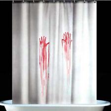 Halloween Novelty Blood Fingerprint Bathroom Waterproof Shower Curtain Screens D