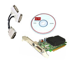 WINDOWS 7  DUAL DVI MONITOR PCI-E x16 Video Card.