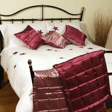 Charlotte Thomas Reversible Bed Runner & Two Cushion Covers in Claret