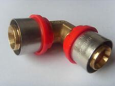 Pressfitting Winkel für Alu Verbundrohr 26 x 26 mm DVGW